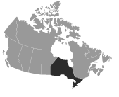 SEW-EURODRIVE Canada Service Coverage Map of Central Canada
