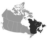 SEW-EURODRIVE Canada Service Coverage Map of Eastern Canada