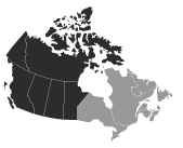 SEW-EURODRIVE Canada Service Coverage Map of Western Canada