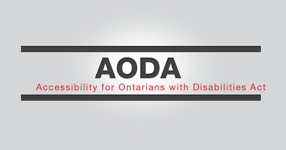 AODA - Accessibility for Ontarians with Disabilities Act