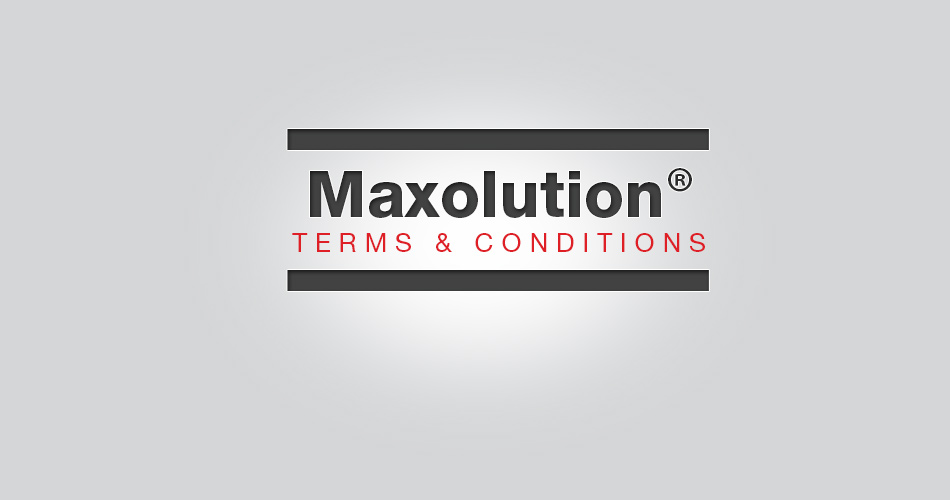 Maxolution® Terms and Conditions